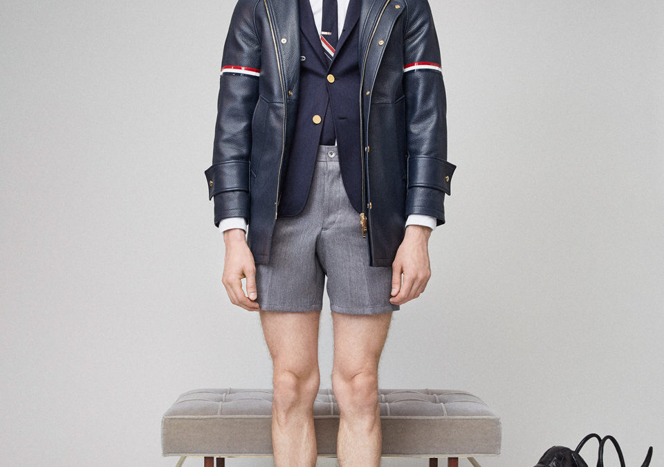 Thom Browne Spring Resort 2019 available wt their online.
