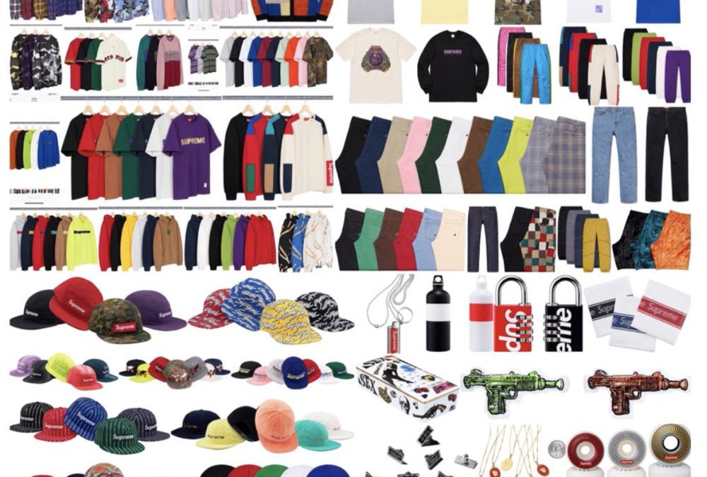 Supreme Spring Summer 2019 Drop List Week1.