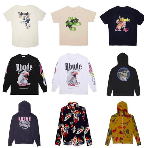 RHUDE new items available at their online.