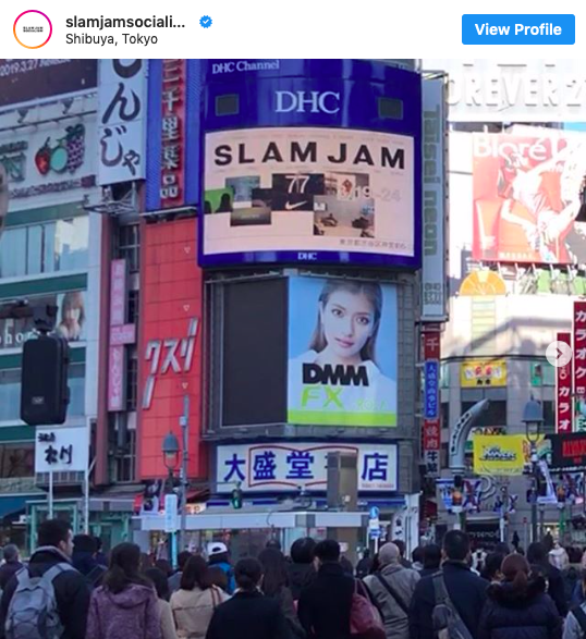 Slam Jam will open Pop UP Store in Tokyo from March 20th to 24th