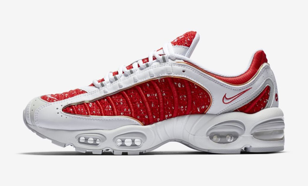 Supreme x Nike Air Max Tailwind 4 releasing on March 7th.