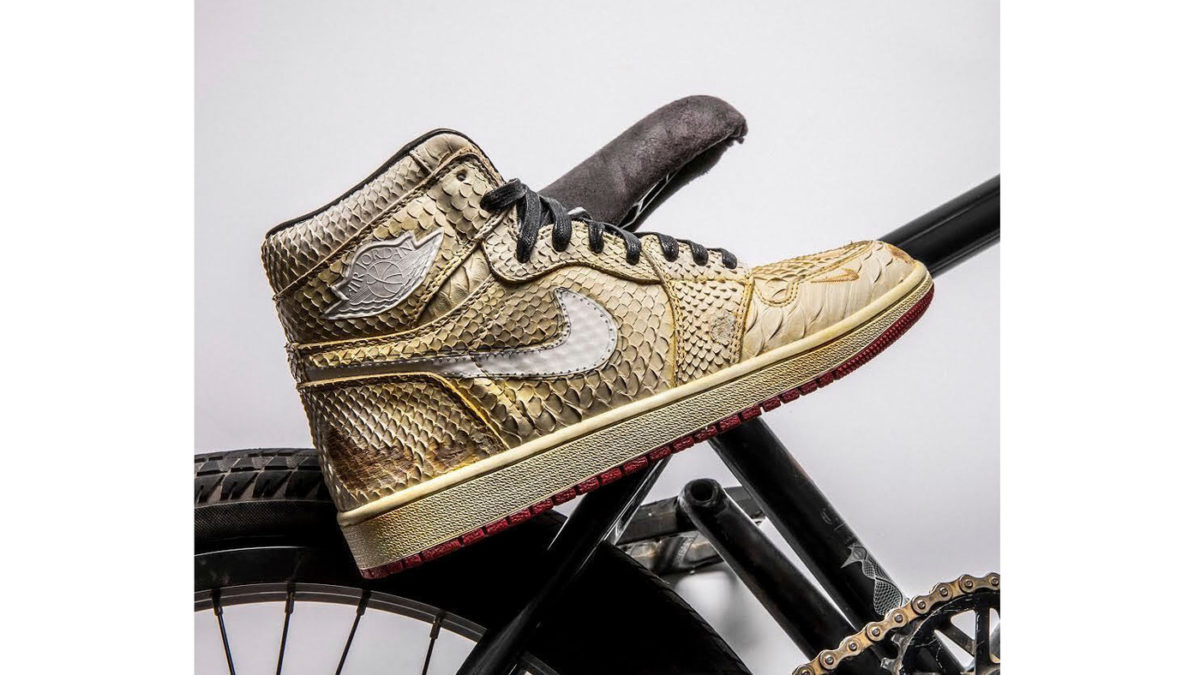 The Shoe Surgeon Air Jordan1 Nigel Sylvester releasing on February 9th at 12am EST.