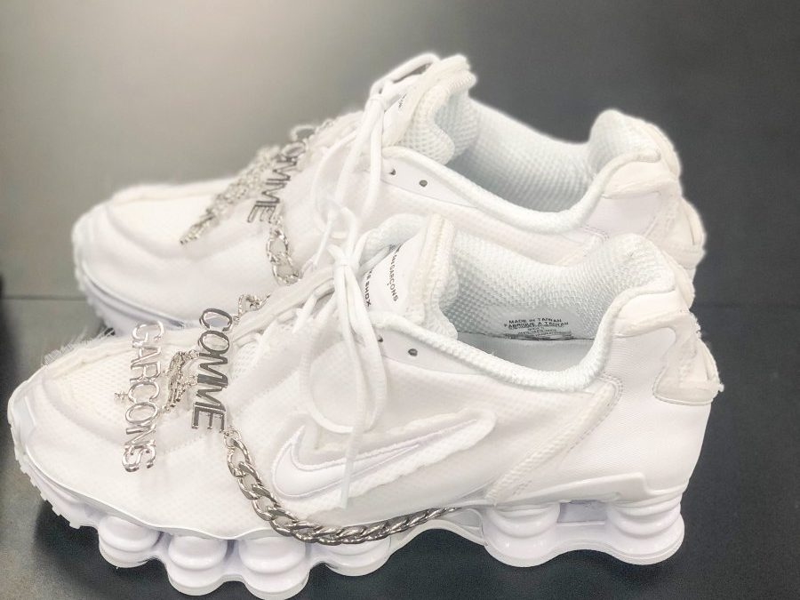 Comme des garcons×Nike Shox releasing end of May at DSMG