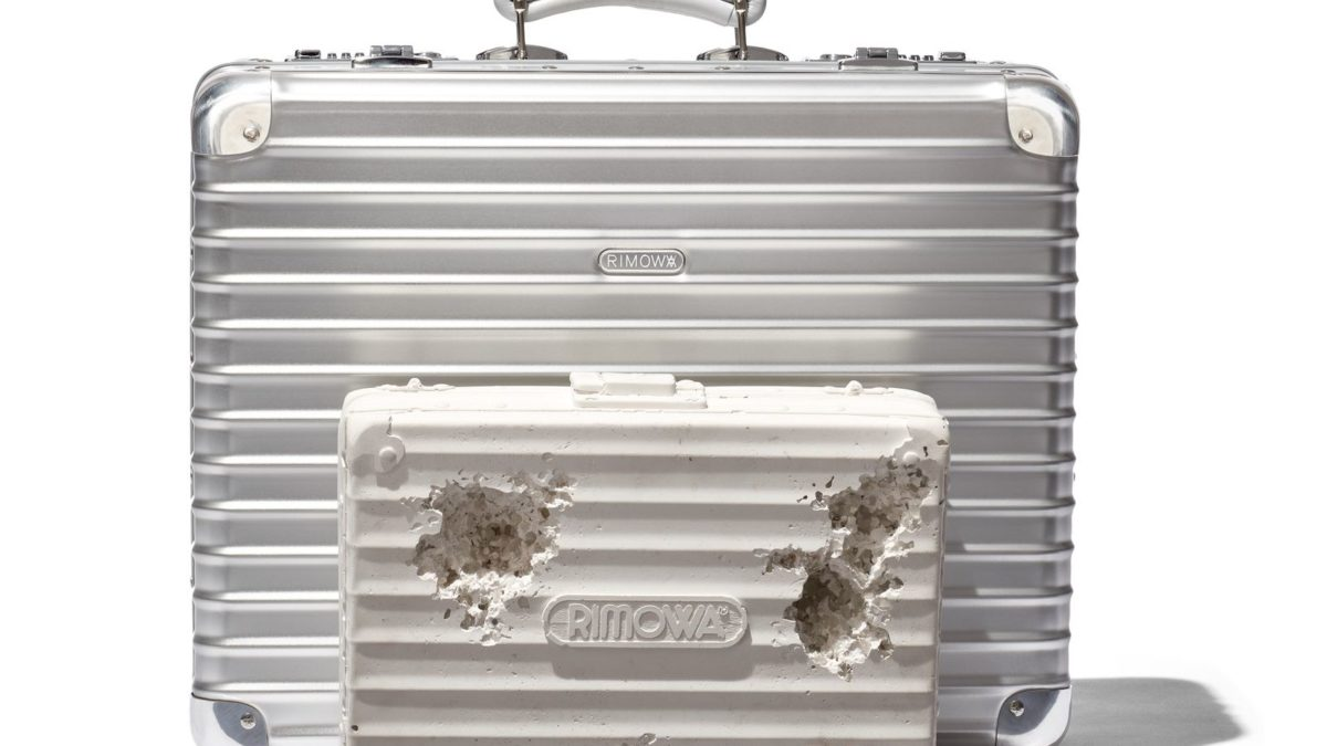 RIMOWA X DANIEL ARSHAM ERODED SUITCASE releasing today in Japan