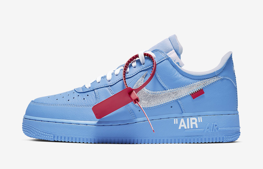 Off White×Nike AF1 Low Blue releasing soon.