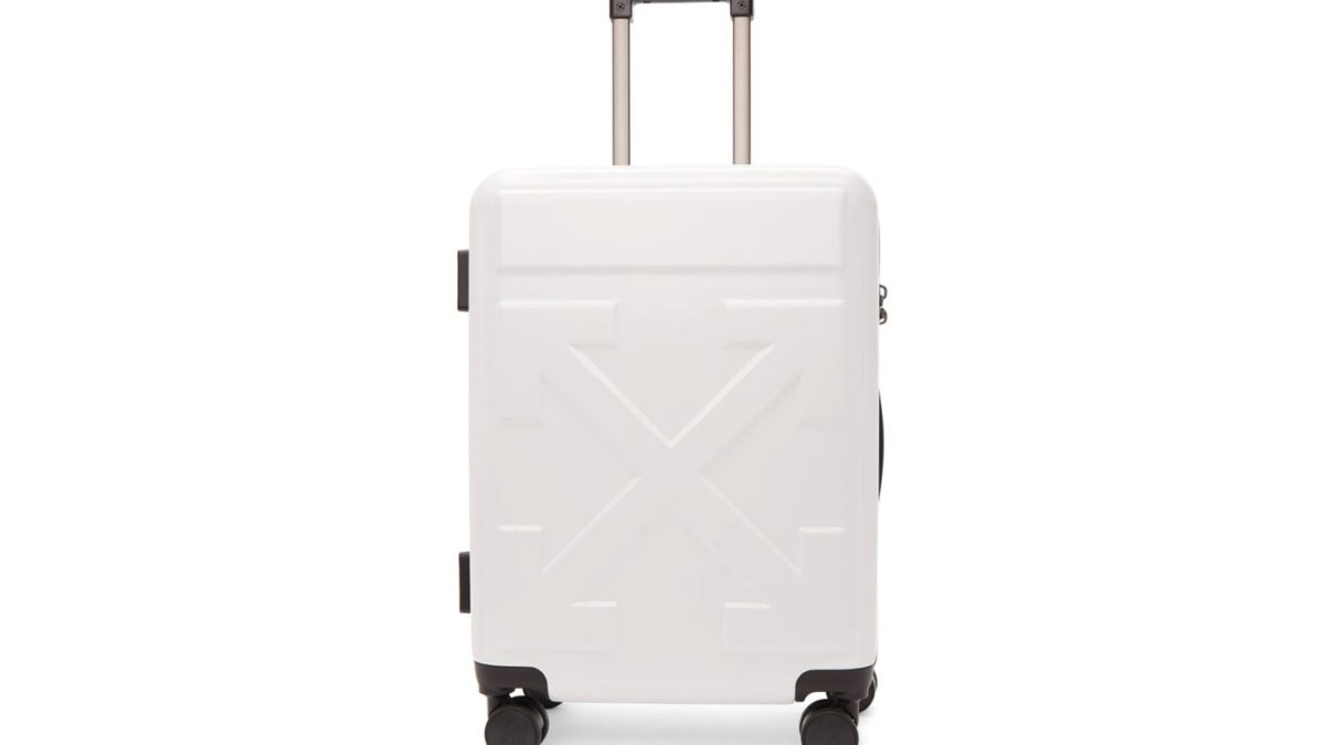 Off White suitcase available now.