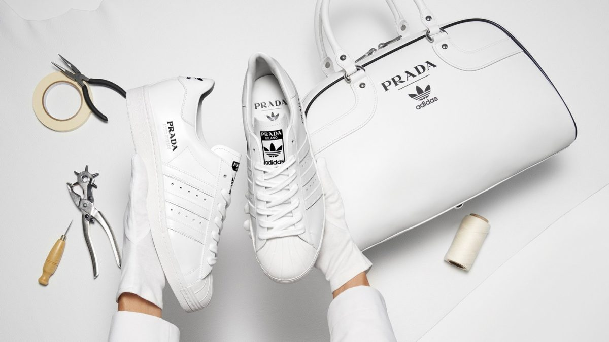The Prada x adidas Superstar and Bowling Bag Set will be limited to just 700 pieces and available December 4th