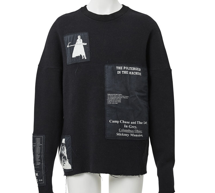 Raf Simons 2005-06 patch work knit available at Laila Tokio.