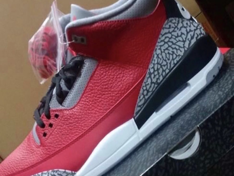 Air Jordan3 SE Red Cement releasing on February 15th.